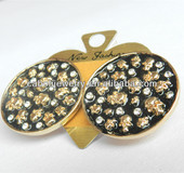 2014 New Fashion Design Zinc Alloy Metal Base Circle Shape Big Round Earrings