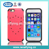 China supplier phone case hard plastic material 2 in 1 rugged case for iphone 6