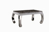 consice granite top dining tables stainless steel dining table for restaurant furniture