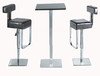 Modern stainless steel bar table for club or bar furniture bar chair & table set