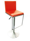 Hot sale stainless steel leg pu leather bar chair adjust height bar stool chair for club