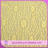 China lace market hot sell pretty yellow baby lace fabric