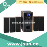 2014 Hot!!! Wooden case 5.1 home theater system with usb sd fm