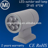 promotion,shenzhen led low price outdoor up and down led wall lights double 6W
