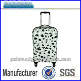 Fashion Wholesale Luggage Case Leopard Print abs Trolley Case with 4 Wheels