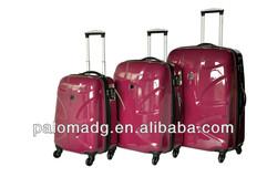 full size colorful travel hard shell luggage set