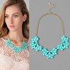facted turquoise teardrop stones jeweled collar necklace