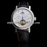 Genuine leather Mechanical wrist watch for men 2013