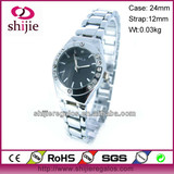 2013 lady's fashion Bracelet Watches case with stone japan movt quartz watch stainless steel