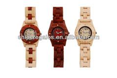 hot sell fashion wood watch, quartz chain wood watch for ladies