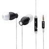 For mobile earphone with microphone mental black earphone