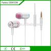 tangle free wire custom logo metal oem earphones