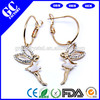 crystal and rhinestone fairy earrings for lady jewelry factory