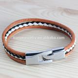stylish brown belt buckle bracelet