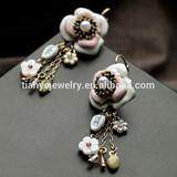 Wholesale Enamel Flower Italian Gold Earring Designs for Jewelry Fashion
