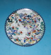 Round Flat Food Antique Hand Painted Ceramic Plates10719