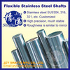 SUS304 stainless steel round rod high precision linear shaft similar to mirror surface very straight