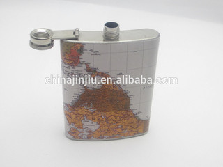 never misss it ! ! ! world map water transfer series hip flask