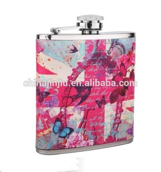 new water transfer England series hip flask