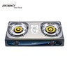 0.4mm Stainless Steel Double Burners Brass Burner Gas Stove BW-2011
