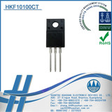 Diodes HKF10100CT Diode Schottky 100V 10A TO220 For Use in Low Voltage and High Frequency Inverters