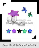 316L stainless steel titanium anodized dermal anchor tops surface piercing jewelry
