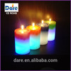LED wax pillar color candles