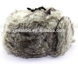 Fashion polyester windproof soft & warm fake fur earflaps hat