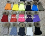2014 classic beanie hat,racoon fur ball top hat
