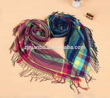 wholesale women's scarf cheap winter scarf checked scarf
