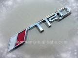 TRD chrome car stickers