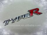 TYPER custom 3d chrome logo sticker