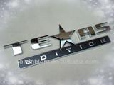 TEXAS EDITION chrome 3d stickers