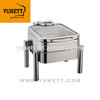 square chafing dish half size induction chafing dish