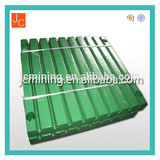 fixed jaw plate steeling jaw plate high manganses jaw plate in wuyi