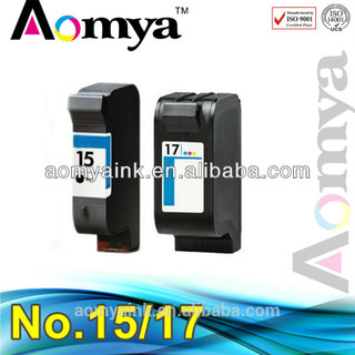 Aomya remanfacture Ink cartridge compatible For HP 15 /17