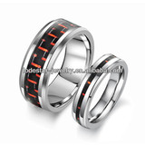 Fashion carbon fiber design fasion jewelry stainless steel rings mix order (LR6004)