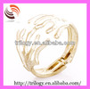 2014 New designer fashion mens women simple gold plating cuff bracelets bangles