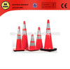Flexible Fluorescent Red Safety PE Traffic Cone