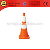 Orange traffic cones with Class 1 reflective collars