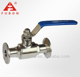Sanitary stainless steel clamp ball valve