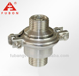 Sanitary stainless steel threaded check valve