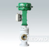 The three-eccentric hard seal linear motion control valve