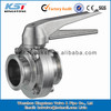 China factory sale sanitary ss304 butterfly valve with gripper handle