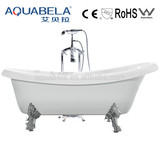 classical acrylic clawfoot bathtub