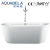 White Acrylic Freestanding portable plastic bathtub for adult