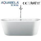 White Acrylic Freestanding portable plastic bathtub for adult