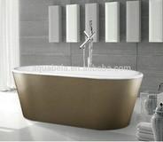 Gold Acrylic Freestanding Bathtub