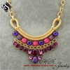 STARS LOVES Fashion Chunky Gold Chain Necklace Princess Statement Necklace Gemstone Jewelry