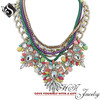 Exotic Dannijo Necklace Multicolored Twine Chain Necklace Gemstone Statement Necklace